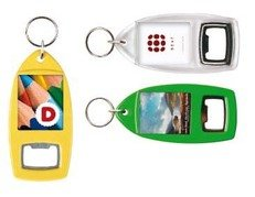 Coloured Bottle Opener Keyrings R1