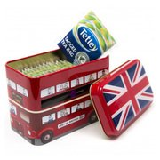 Bus Tea Tins