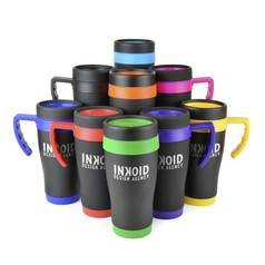 450ml Oregon Black Travel Mugs