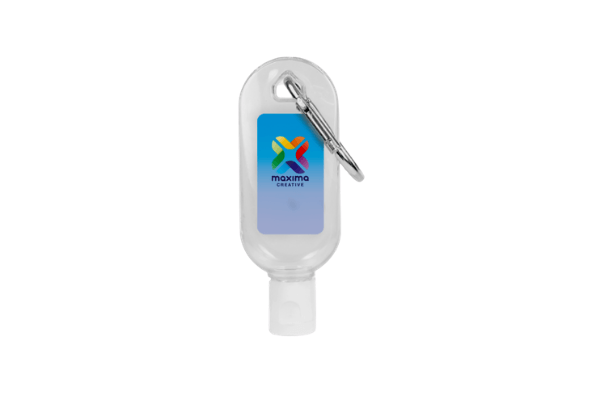 Hand Sanitiser Gel 30ml with Carabiner Clip