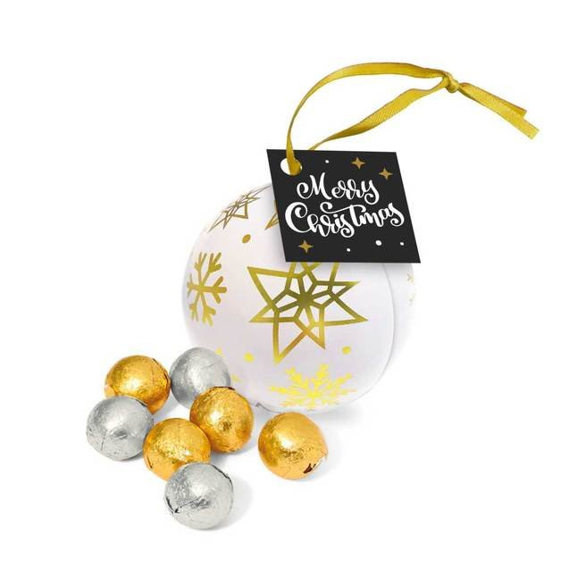 Bauble Tins Foiled Chocolate Balls