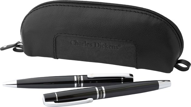 Charles Dickens Leather Pencil Cases