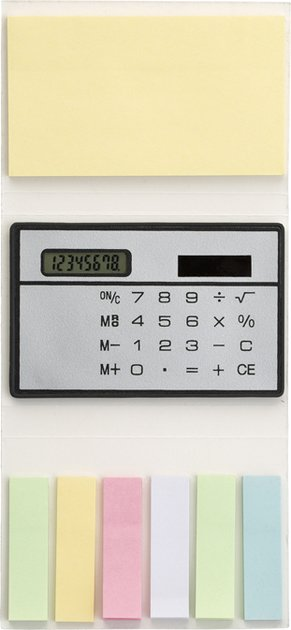 Booklet With Sticky Notes And Calculators