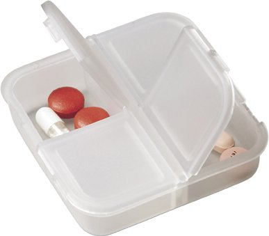 Square Plastic Pill Boxes