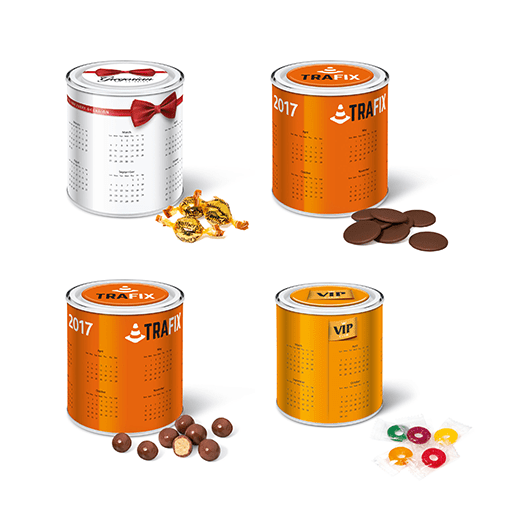 Calendar Tins- Chocolate Buttons (White)