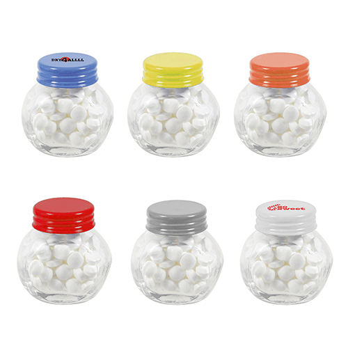 Small Glass Mint Jars