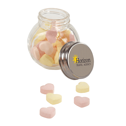 Small glass jars- 30gr of hearts