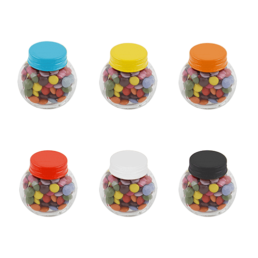 Small Glass Chocs Jars