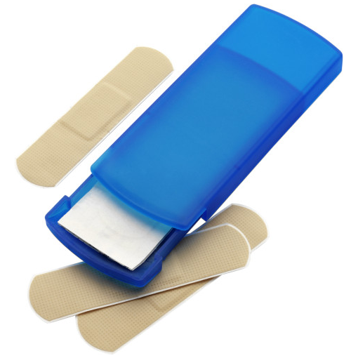 Plastic Case With Five Plasters