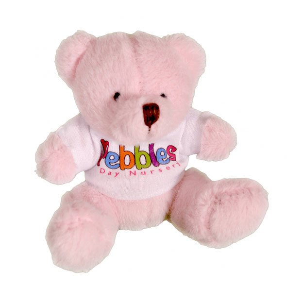 10cm Mini Coloured T-shirt Bears