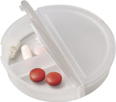 Round Plastic Pill Boxes