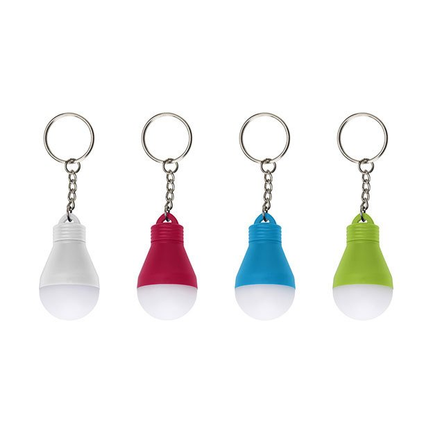 Light Bulb Key Holders with Coloured Base