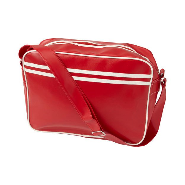 PVC Messenger Bags with White Piping