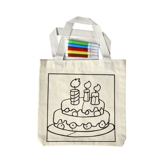 Cotton Bags With Drawing Panel