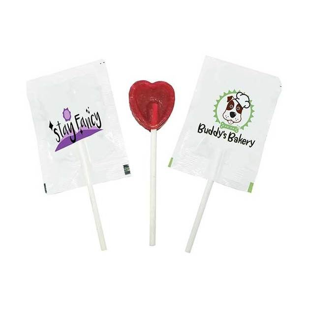 Mini Flat Round or Heart Lollipops