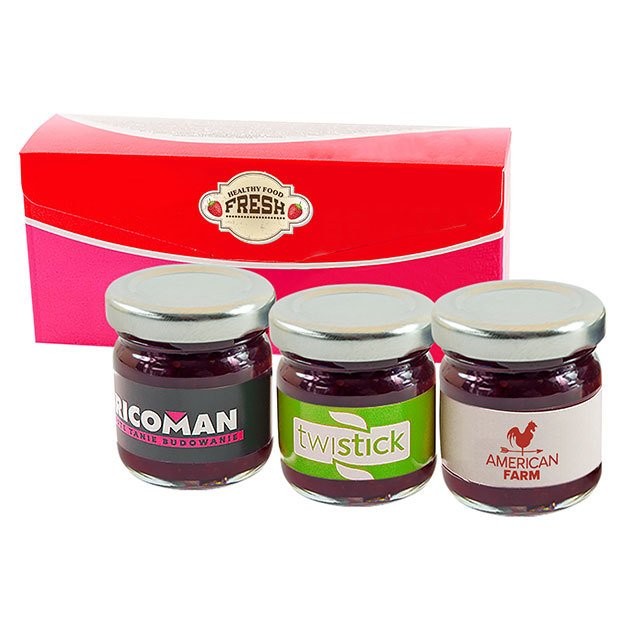 Set Of 3 Jars Of Jam
