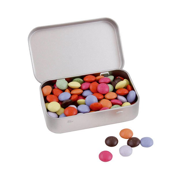 Large Hinged Tins With Sweets or Mints
