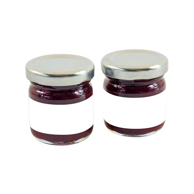 Mini Jars Of Strawberry Jam