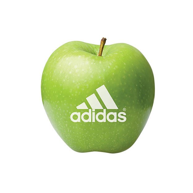Green Apple With Logo