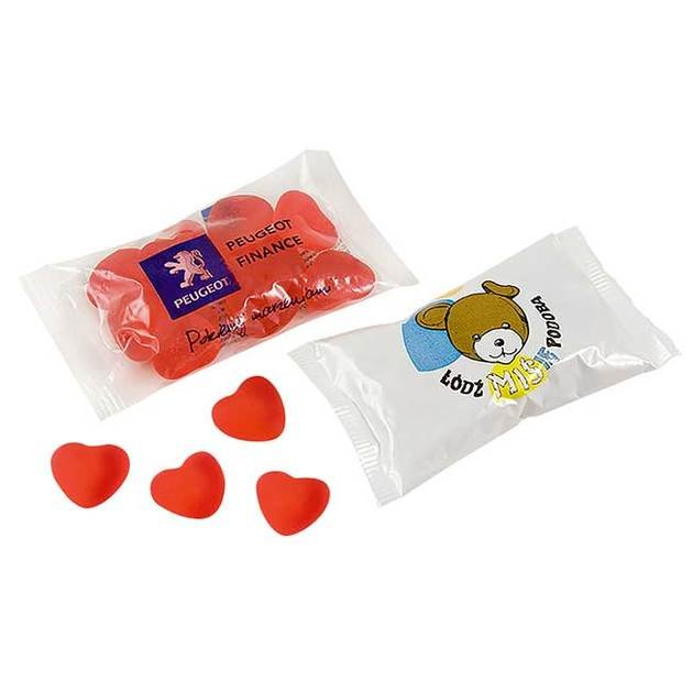 Heart Jellies In a Flow Pack