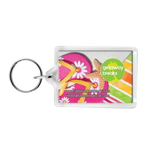 Rectangular Plastic Keyrings C1