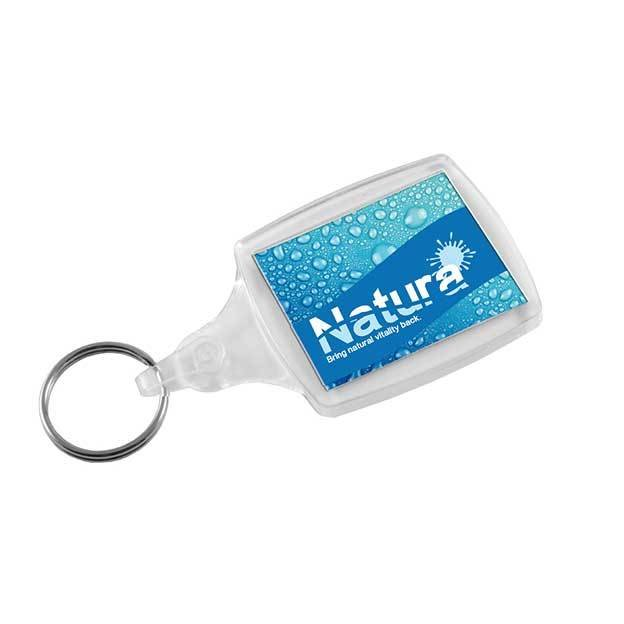 Classic Clear Plastic Keyrings S6