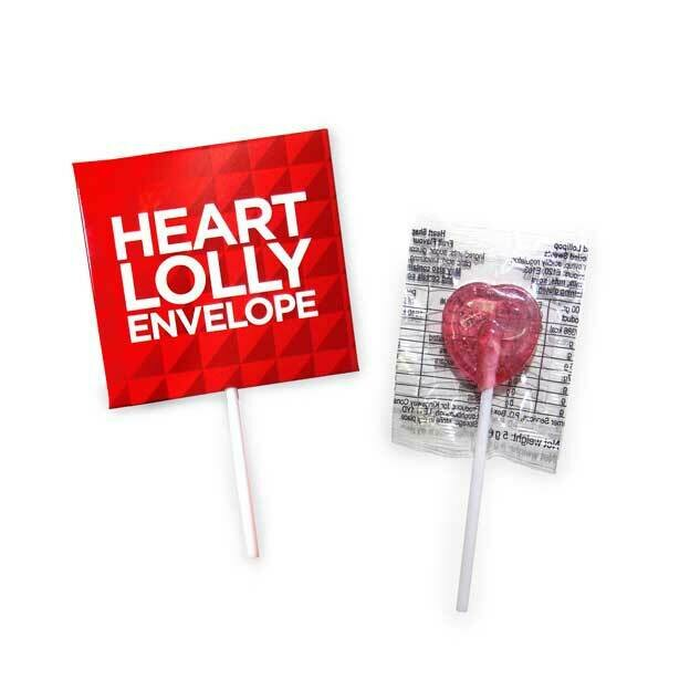 Heart Lolly Envelopes