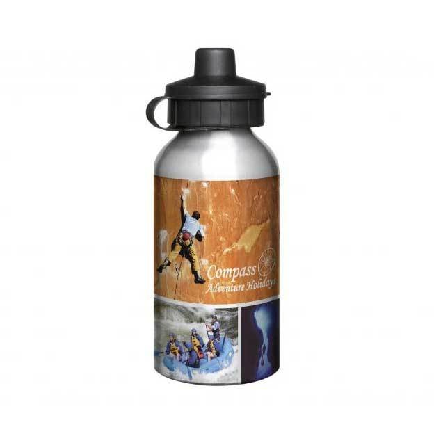 Aluminium 400ml Silver Drink Bottles
