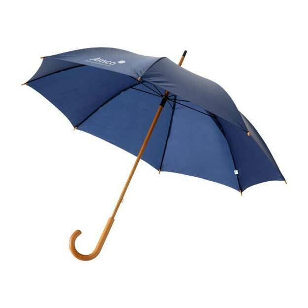 Jova 23inch Umbrella with Wooden Shaft and Handle