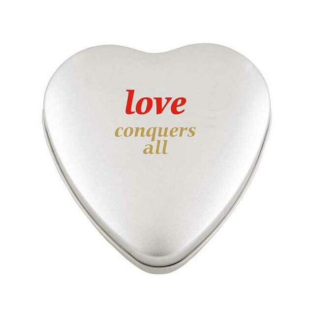 Large Tin with Heart Mints