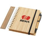 Franklin B6 bamboo notebook with pen