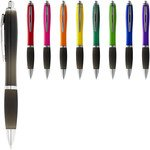 Nash ballpoint pen with coloured barrel and black grip