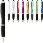Nash coloured stylus ballpoint pen with black grip