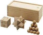 Brainiac 3-Piece Wooden Brain Teasers