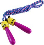 Skipping Ropes With Animal Design Wooden Handles
