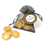 Organza Bag- Gold Foil Chocolate Stars