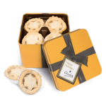 Gold Square Mince Pies Tins- Large