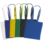 Coloured Cotton Bags With Long Handles