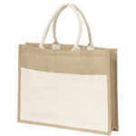 Jute Bags With Cotton Front Pockets