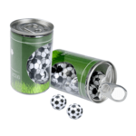 Containers with chocolate footballs (100g)