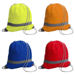 Drawstring Backpacks With A Reflective Strip