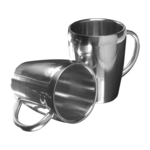 Two Steel Mugs Set