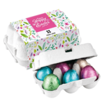 Six Easter Eggs in Boxes