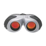 Aluminium and Rubber Binoculars With Red Lenses