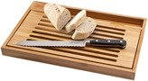 Bistro Cutting Board with Bread Knives