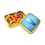 Gold Sweet Tins- Jelly Bean Factory Beans
