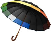 Classic Umbrellas With Coloured Edge Panels