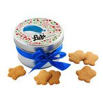 Ginger And Cinnamon Biscuits In a Metal Tin
