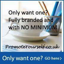 No minimum quantity promo products