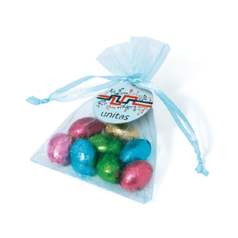 Organza Bags- Foil Wrapped Chocolate Eggs